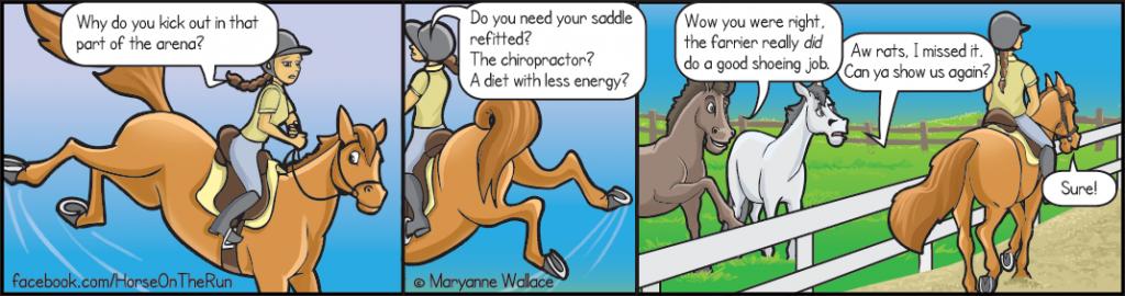 Nice shoes - horizontal - Horse on the Run comics