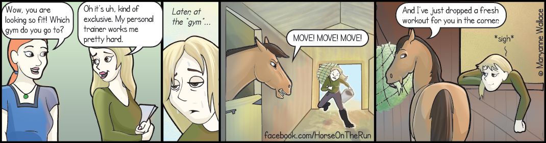 Horse gym comic