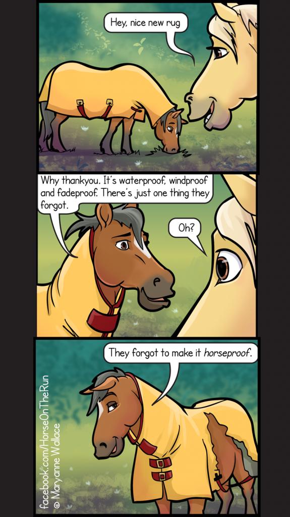 Horseproof - vertical - Horse on the Run comics