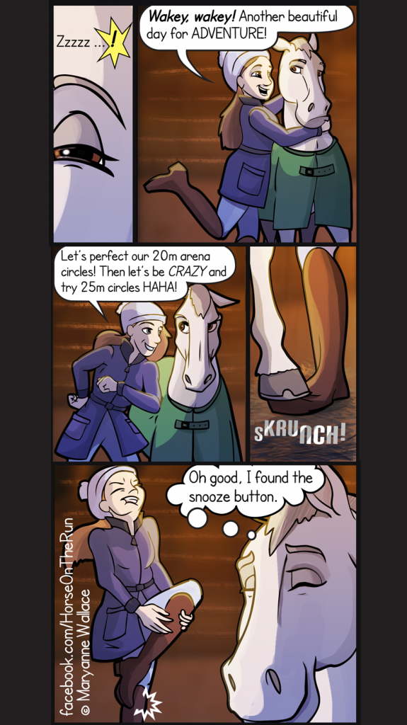 The Snooze Button - vertical - Horse on the Run comics