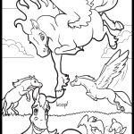 Playful Pegasus – colouring page