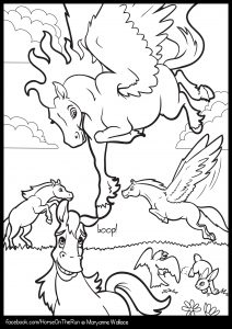 Read more about the article Playful Pegasus – colouring page